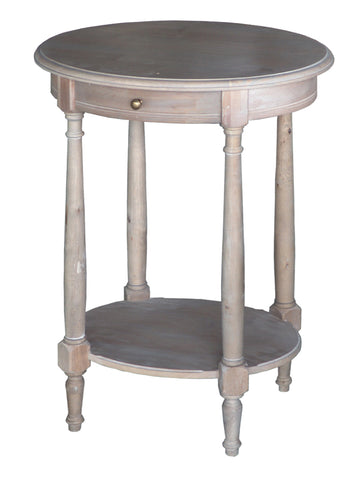 Lou Lou Oval Table White Washed