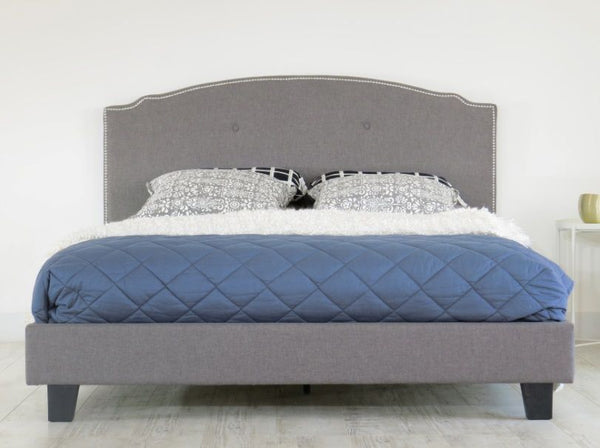 Kasey Bedframe King (Grey) - Free Shipping - Darkhorse Creations