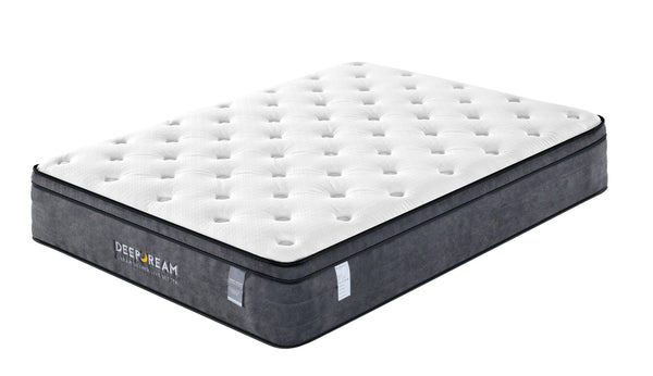 Eurotop Mattress 5 Zone Pocket Spring Latex Foam 34cm  Double