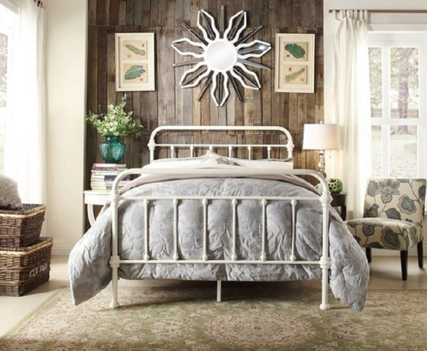 Annabelle Metal Bed Frame Double White
