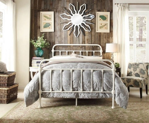 Annabelle Metal Bed Frame Queen White