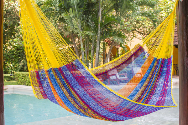 King Size Nylon Plus Hammock in Confeti