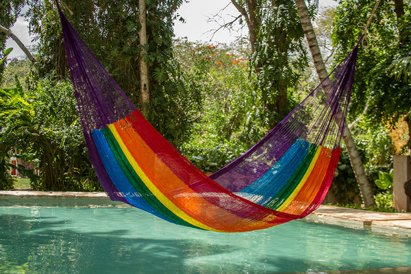 Jumbo Nylon Plus Hammock in Rainbow