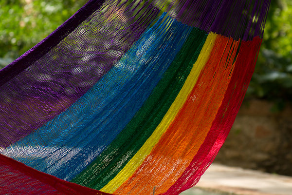 King Nylon Plus Hammock in Rainbow