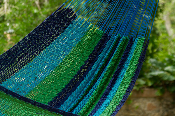 King Size Outdoor Cotton Hammock in Oceanica