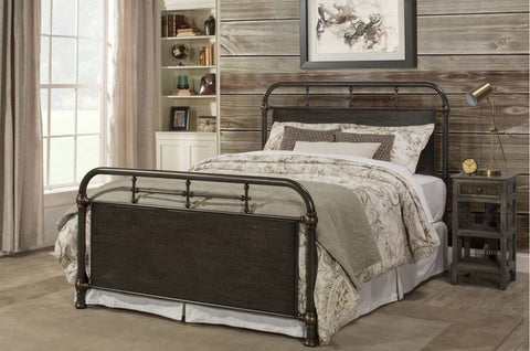 Maxton  Bed Frame King (Antique Grey/Brown) - FREE SHIPPING - Darkhorse Creations