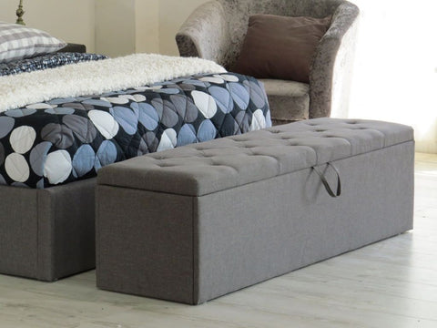 Lester Linen Storage Ottoman  (Grey) - FREE SHIPPING - Darkhorse Creations