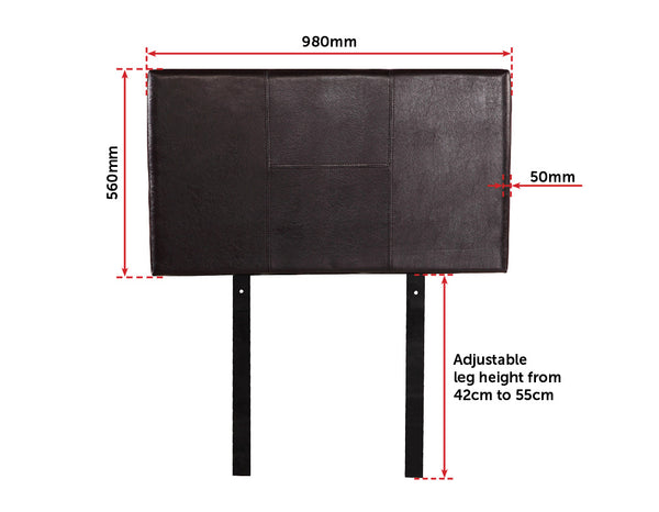 PU Leather Single Bed Headboard Bedhead  Brown