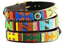 Circus Beaded Dog Collar