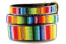 Rainbow Beaded Dog Collar