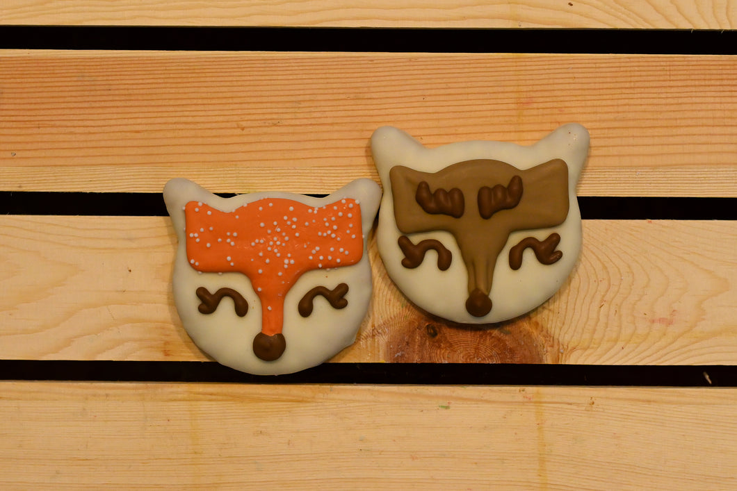 Christmas Foxes (pack of two)