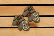 Christmas Hippos (pack of two)