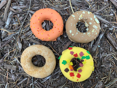 Fall mini donuts pack of 4