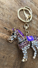 Crystal horse keychain - Dogwoodbling horse dog treat
