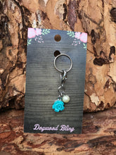 Flower teal with pearl - Dogwoodbling horse dog treat