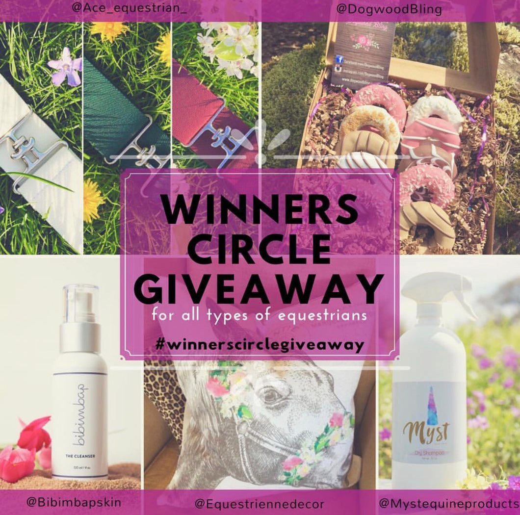 Winners circle giveaway prize