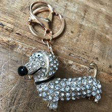 Crystal dog keychain