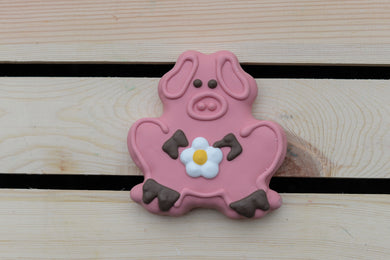 Piggy with flower - Dogwoodbling horse dog treat