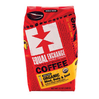 Equal Exchange Organic Whole Bean Coffee - Mind Body And Soul - Case Of 6 - 12 Oz.