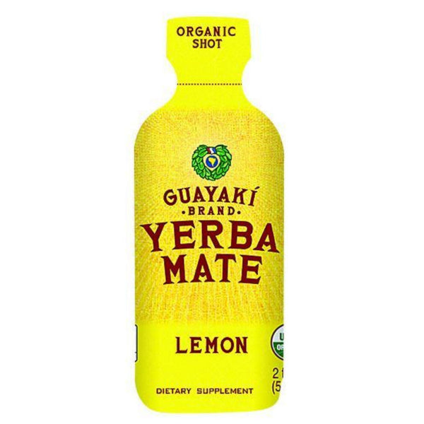 Guayaki Organic Yerba Mate Energy Shot - Lemon - 2 Oz - Case Of 12