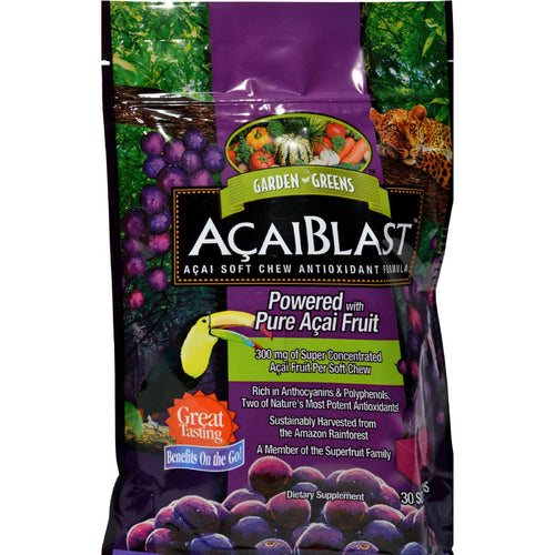 Garden Greens Acaiblast - 300 Mg - 30 Soft Chews