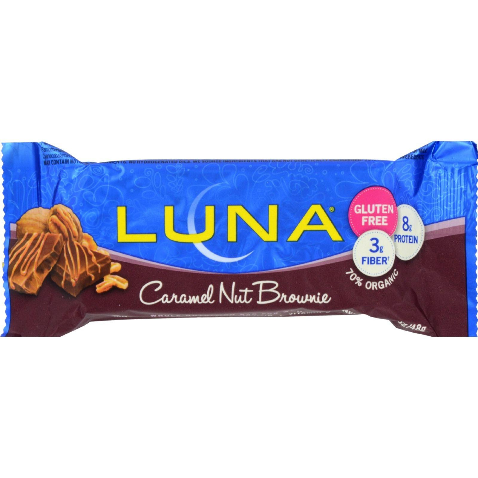Clif Bar Luna Bar - Organic Caramel Nut Brown - Case Of 15 - 1.69 Oz