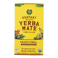 Guayaki Organic Traditional Yerba Mate - Case Of 6 - 25 Bags
