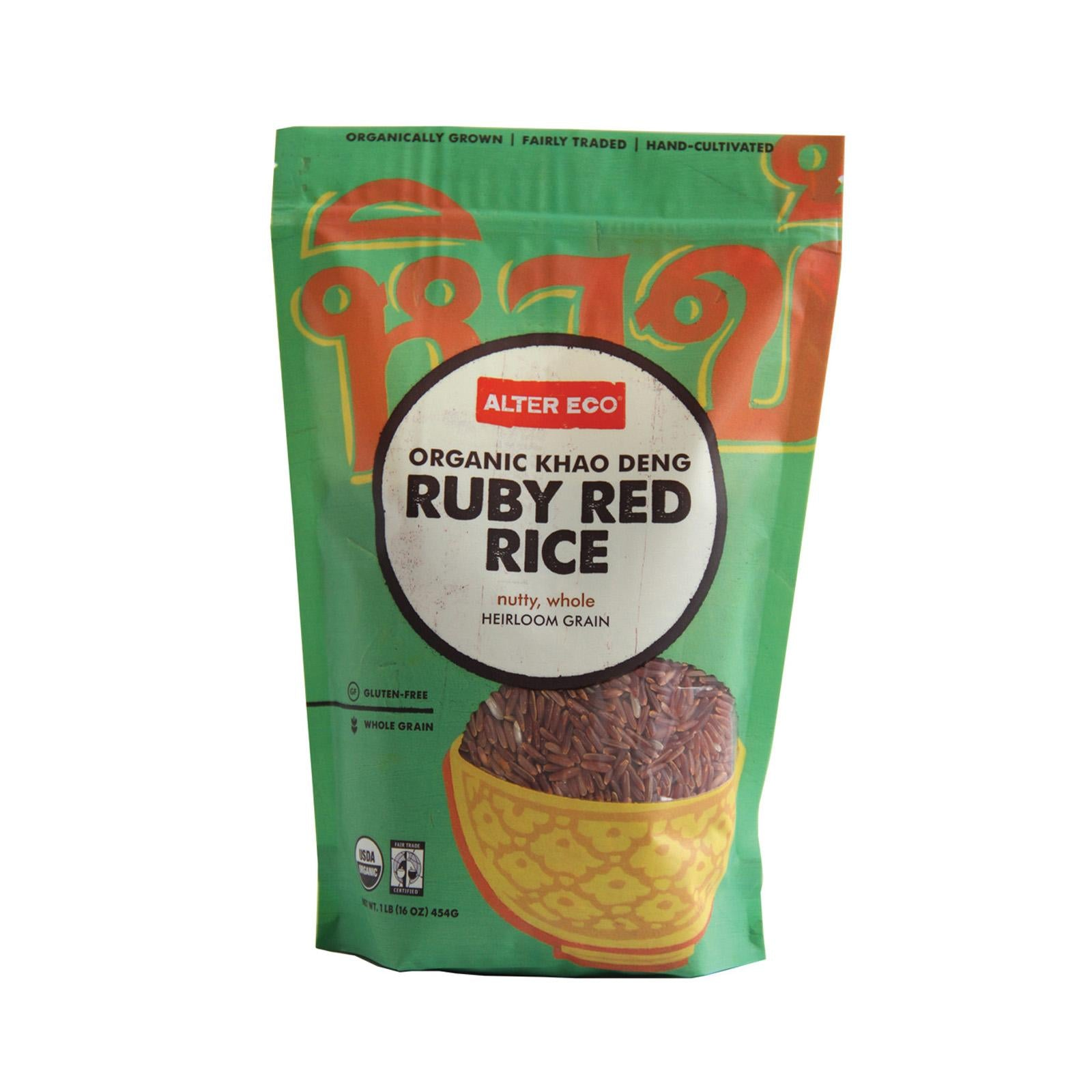 Alter Eco Americas Rice - Organic Khao Deng Ruby Red - Case Of 8 - 16 Oz.