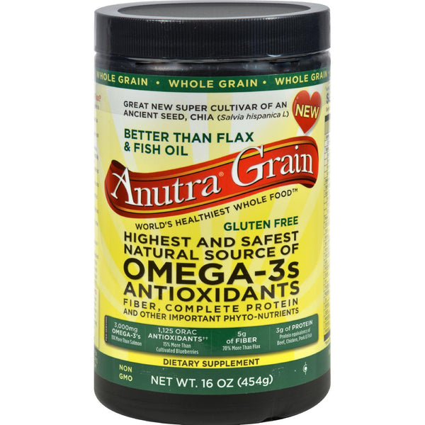 Anutra Omega 3 Antioxidants Fiber And Complete Protein Whole Grain - 16 Oz