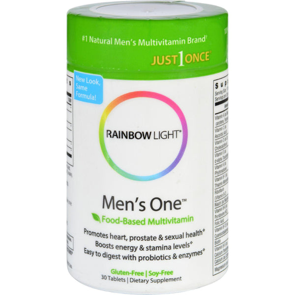 Rainbow Light Men's One Energy Multivitamin - 30 Tablets