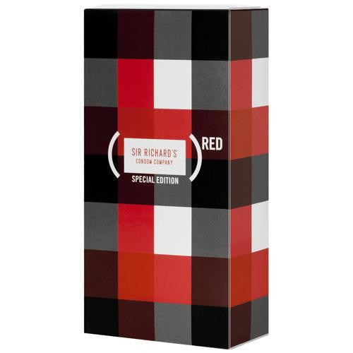 Sir Richard's Condoms - Special Edition Product Red - Counter Dsp - 12 Pack
