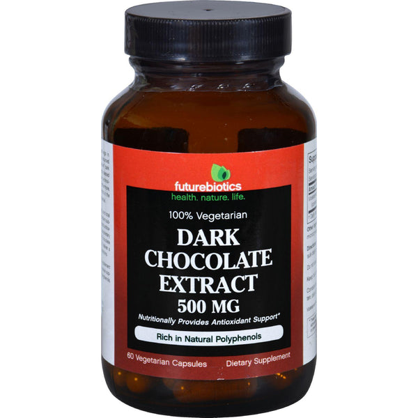 Futurebiotics Dark Chocolate Extract - 500 Mg - 60 Vegetarian Capsules