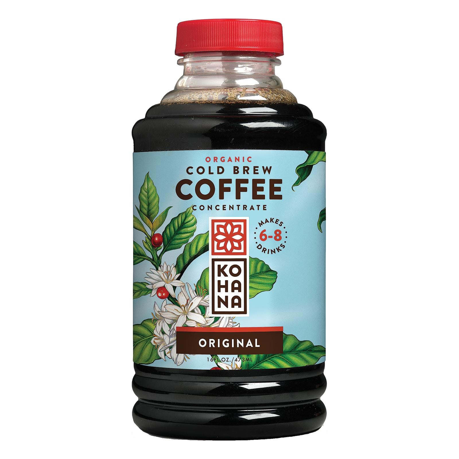 Kohana Organic Cold Brew Coffee Concentrate - Original - Case Of 12 - 16 Fl Oz.
