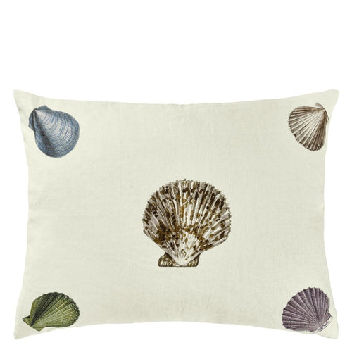 John Derian Captain Thomas Brown's Shells Oyster Cushion