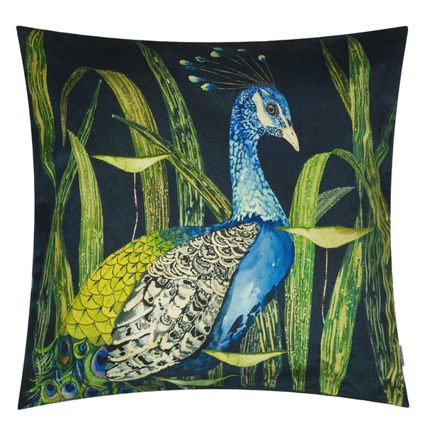 Arjuna Leaf Viridian Cushion