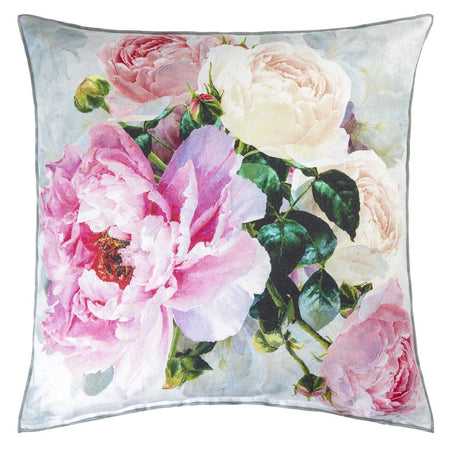 John Derian A Leaf And Butterfly Study Linen Cushion