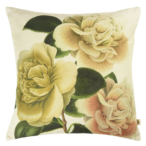 Camellia Folly Parchment Cushion