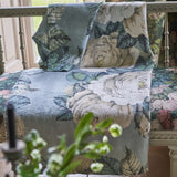 John Derian The Rose Swedish Blue Throw
