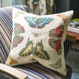 John Derian Mirrored Butterflies Carmine Cushion