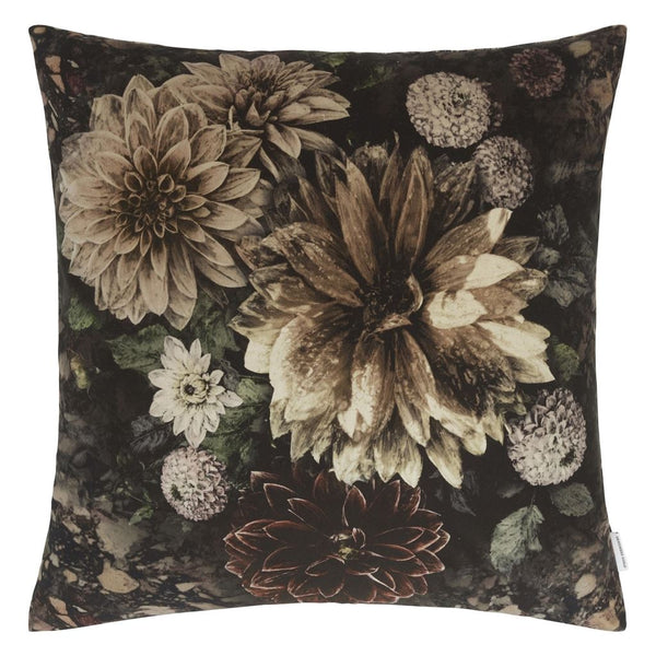 Dahlia Noir Slate Cushion