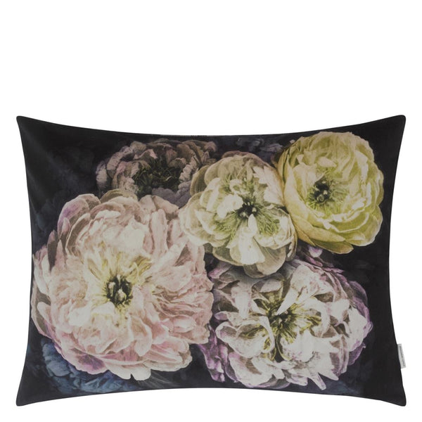 Le Poeme De Fleurs Midnight Cushion