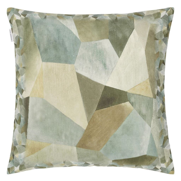 Geo Moderne Pewter Cushion