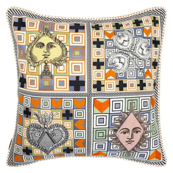 Poker Face Multicolore Cushion