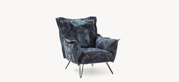 Cloudscape Chair Fiber - Jacquard blue