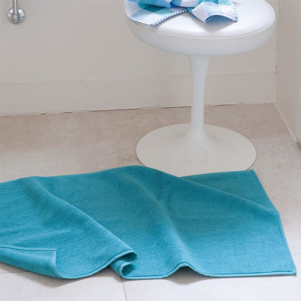 Designers Guild Coniston Turquoise Bath Mat