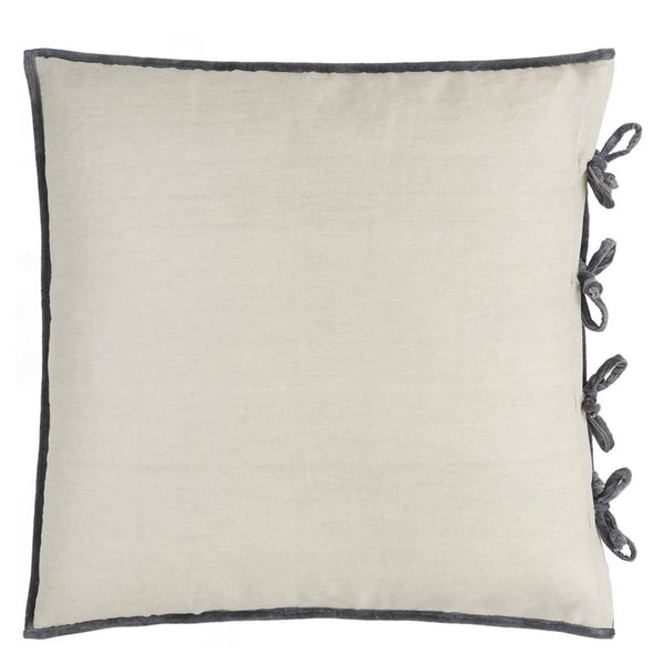 Designers Guild Sevanti Graphite Quilted Square Cushion