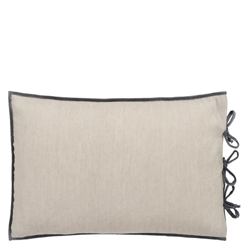 Designers Guild Sevanti Graphite Rectangular Quilted Cushion