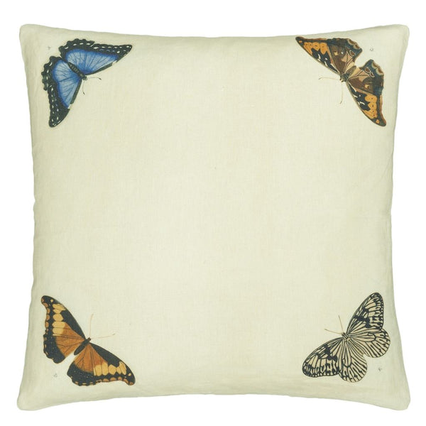 John Derian Mirrored Butterflies Parchment Cushion