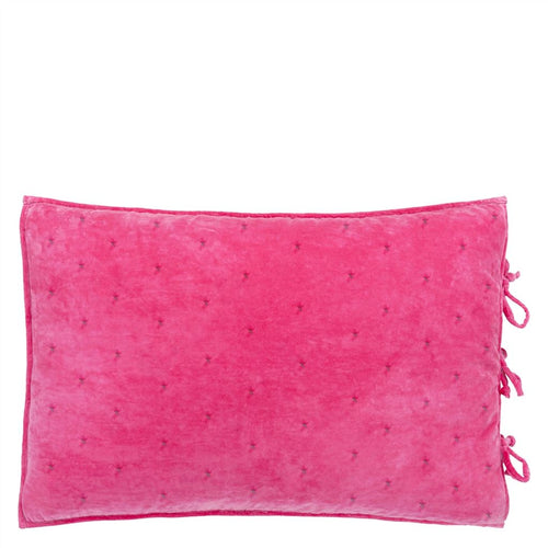 Sevanti Fuchsia Rectangular Quilted Cushion