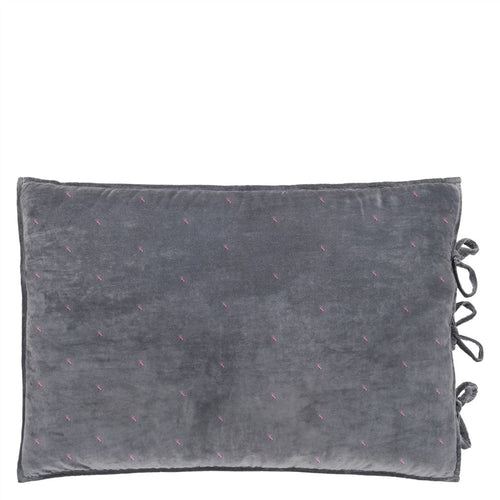 Sevanti Graphite Rectangular Quilted Cushion